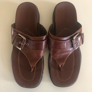 WOMENS COLE HAAN BROWN LEATHER SANDALS SIZE 9.5